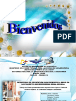 ESTRATEGIAS DE ORIENTACIÓN PARA PROMOVER LA SALUD EN LOS PACIENTES CON ENFERMEDAD RENAL CRÓNICA Defensa 2015