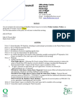Shalfleet Parish Council Agenda October 2016