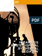 Hazardous Waste Disposal Thermal Oxidation