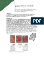 Are Fingerprint Patterns Inherited