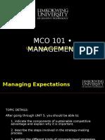 Mba Mco101 Unit 5