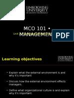 Mba Mco101 Unit 2