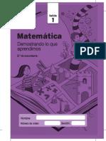 Matemática  examen ECE 2do de secundaria