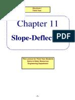 Slope Deflection Method 3rd Dam