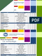 UDA Fechas Exámenes 2015