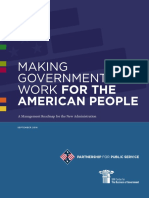 Making Government Work for the American People