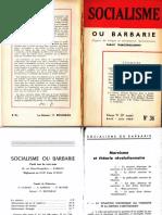 Socialisme Ou Barbarie 36 Avril-juin 1964