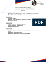 Temario Ciencia y Ambiente Science 2013 Primaria