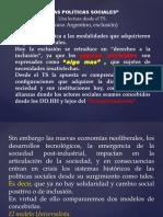 Cazzaniga, Las Politicas Sociales.