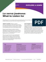 La Serva Padrona Study Guide