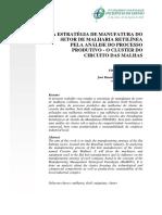 Estratégias de Manufatura - Malharia Retilínea