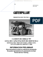 Manual Camion 797 Caterpillar Sistemas Tren Fuerza Transmision Direccion Levantamiento Componentes Funcionamiento