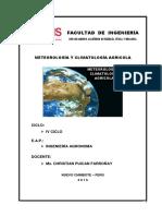 2016. Meteorología y Climatología Agrícola