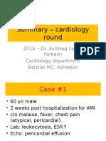 Summary – Cardiology Round