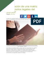Elaboración de Una Matriz de Requisitos Legales Del SG
