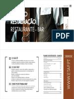 Tecnico Restauração - Bar