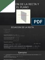Ecuacion de La Recta y El Plano