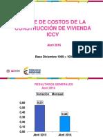 Indice de Costos de Construcción de Vivienda 2016