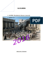Analisis Literario - La Ilíada