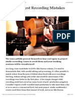The 10 Biggest Recording Mistakes | Sound On Sound.pdf