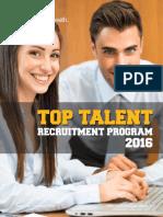 Top Talent Recruitment Program 2016