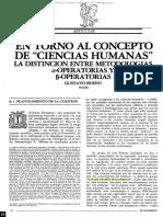En Torno Al Concepto de Ciencias Humanas, Gustavo Bueno