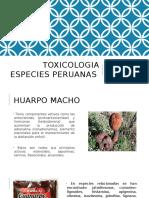 Toxicologia Diapos Especies Peruanas