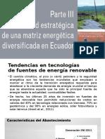 viabilidad estratégica de una matriz energética diversificada en Ecuador