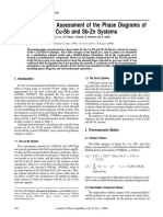 Thermodynamic Assessment of the Phase Diagrams of the Cu-Sb and Sb-Zn Systems