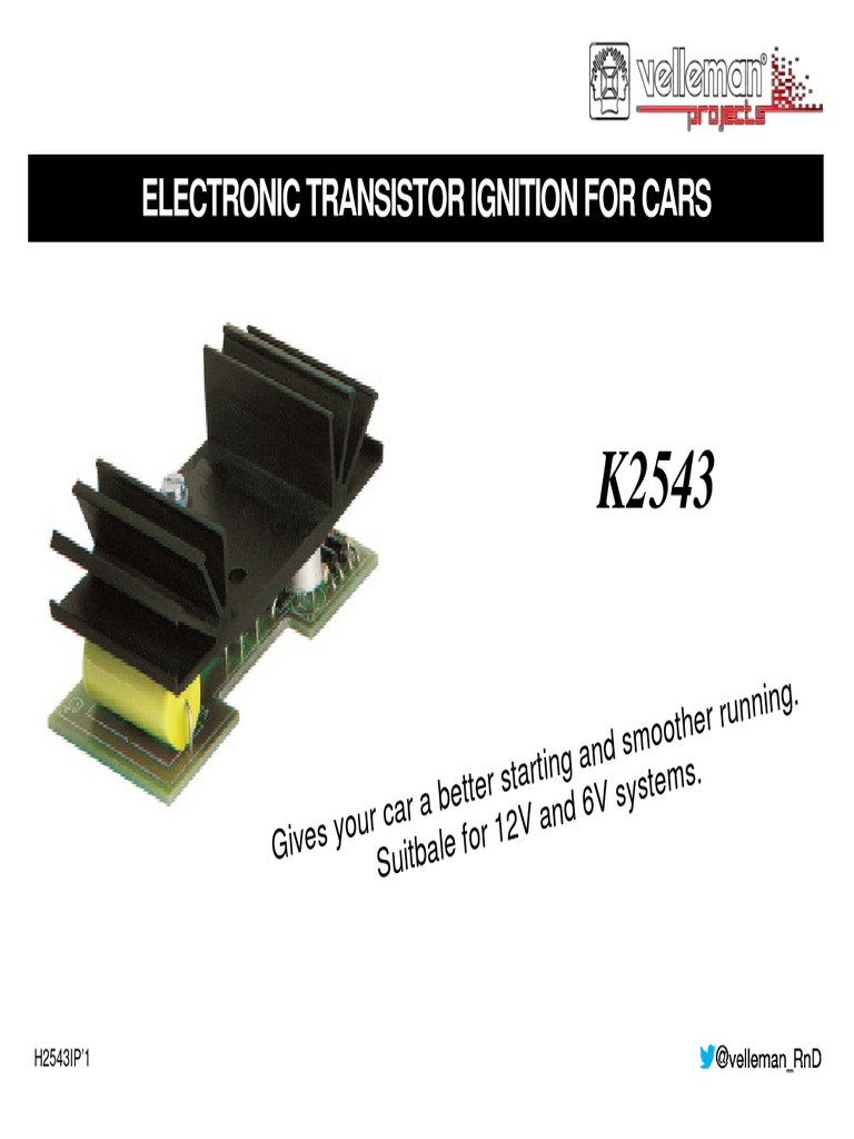 Electronic Transistor Ignition For Cars Kit Manualpdf Circuit Board Assembly Multilayer Pcb Automobile 4 System Printed