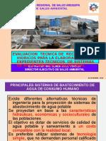 EVALUACION  TECNICA DE FUENTES DE AGUA PARA USO POBLACIONAL.pptx