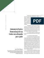 A Autonomia Da Escola e a Democratização Da Gestão Escolar (1)