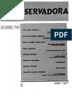 Revista Conservadora No. 5 Dic. 1960