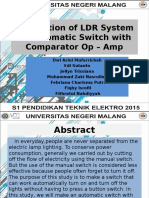 Application of LDR System as Automatic Switch