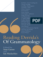 Reading Derrida 039 s of Grammatology