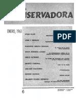 Revista Conservadora No. 6 Ene. 1961