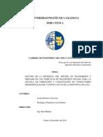 ESTUDIO DE SISTEMA DE TRANSMISION Y FRENADO