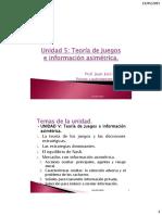 U5_Teoría de Juegos e Información Asimétrica