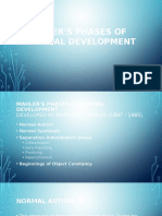 Mahlers Phases of Normal Development