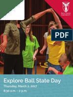 explore ball state day agenda 7-16
