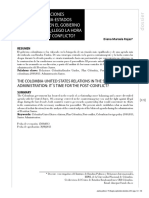 Colombia-EEUU Postconflicto