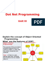 Dot Net Programming Unit III