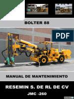 Manual de Mantenimiento Bolter 88 Jmc-260