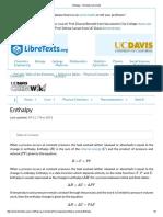 Enthalpy - Chemistry LibreTexts