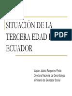 Situacion de La Tercera Edad en El Ecuador