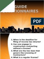 Guide questionnaires