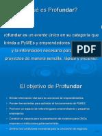 presentación Profundar 2010