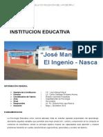 Plan de Trabajo en La I.E. Jose Manuel Meza