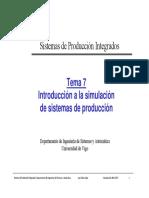 Tema 7 Introducción a La Simulación de Sistemas de Producción