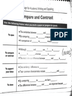 compare and contrast sentence frames